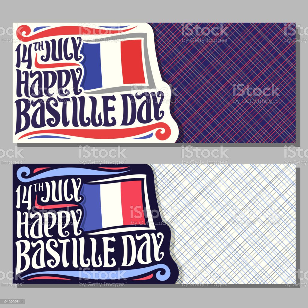 Vector greeting cards for bastille day in france stock vector art vector greeting cards for bastille day in france royalty free vector greeting cards for bastille m4hsunfo