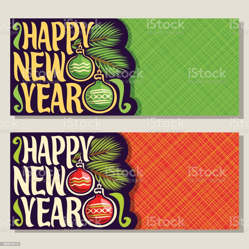 Vector Greeting Cards For New Year Stock Vector Art More Images Of