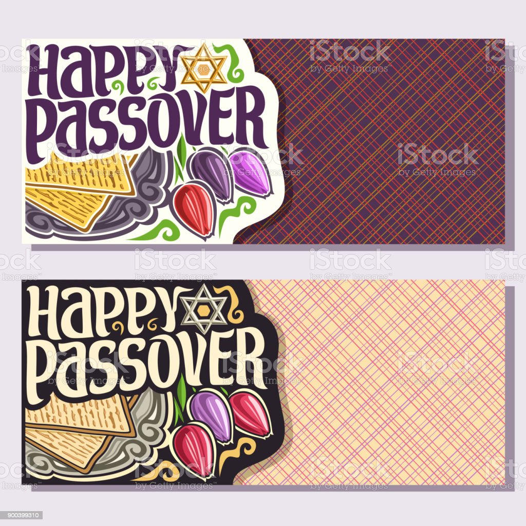 Vector greeting cards for Passover holiday vector art illustration