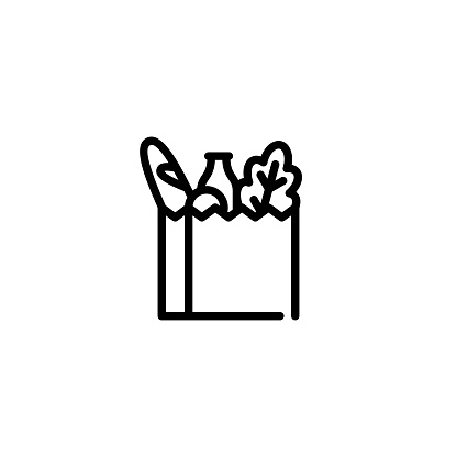 Vector Grocery Food Bag Icon