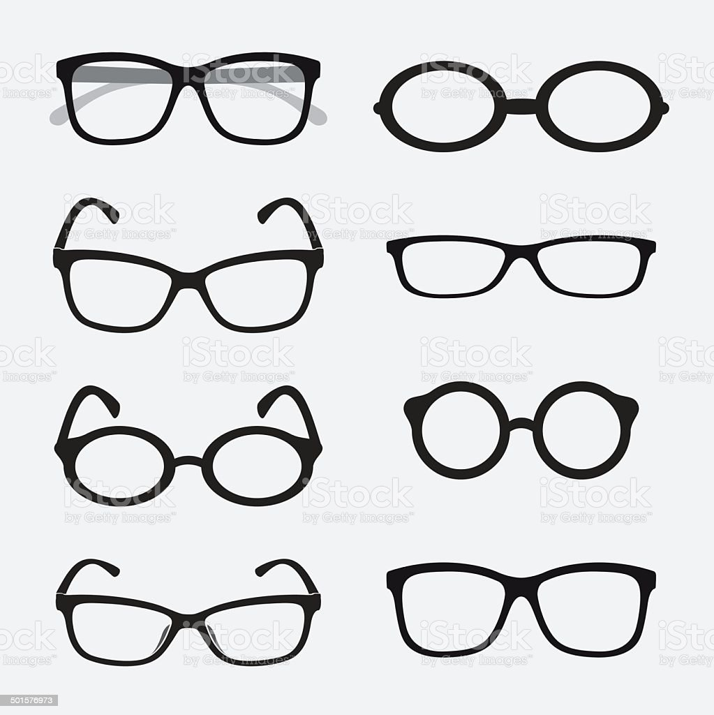 Vector group of an Glasses vector art illustration