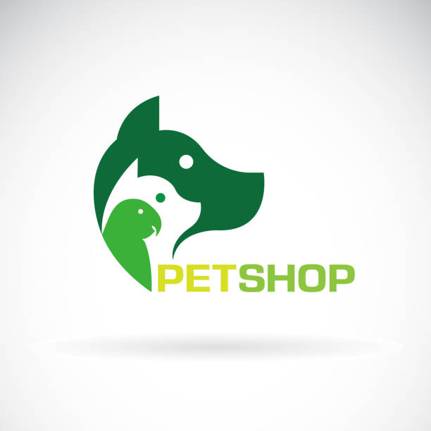 vector group of pets - dog, cat, parrot on white background. beautiful pet symbol. pet icon, easy editable layered vector illustration. - veterinarian stock illustrations, clip art, cartoons, & icons