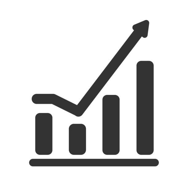 Vektor-wachsende Diagramm Symbol isoliert auf weißem Hintergrund – Vektorgrafik