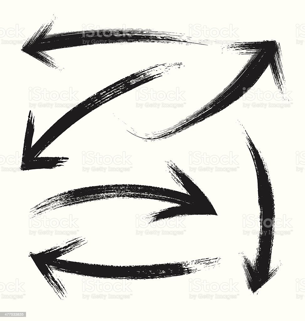 Vector Grunge Arrows Collection vector art illustration