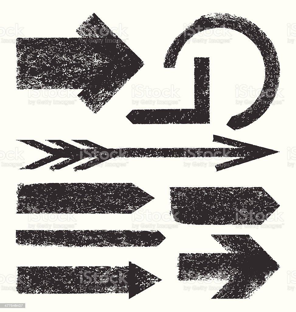 Collection de flèches de Grunge vectorielles - Illustration vectorielle