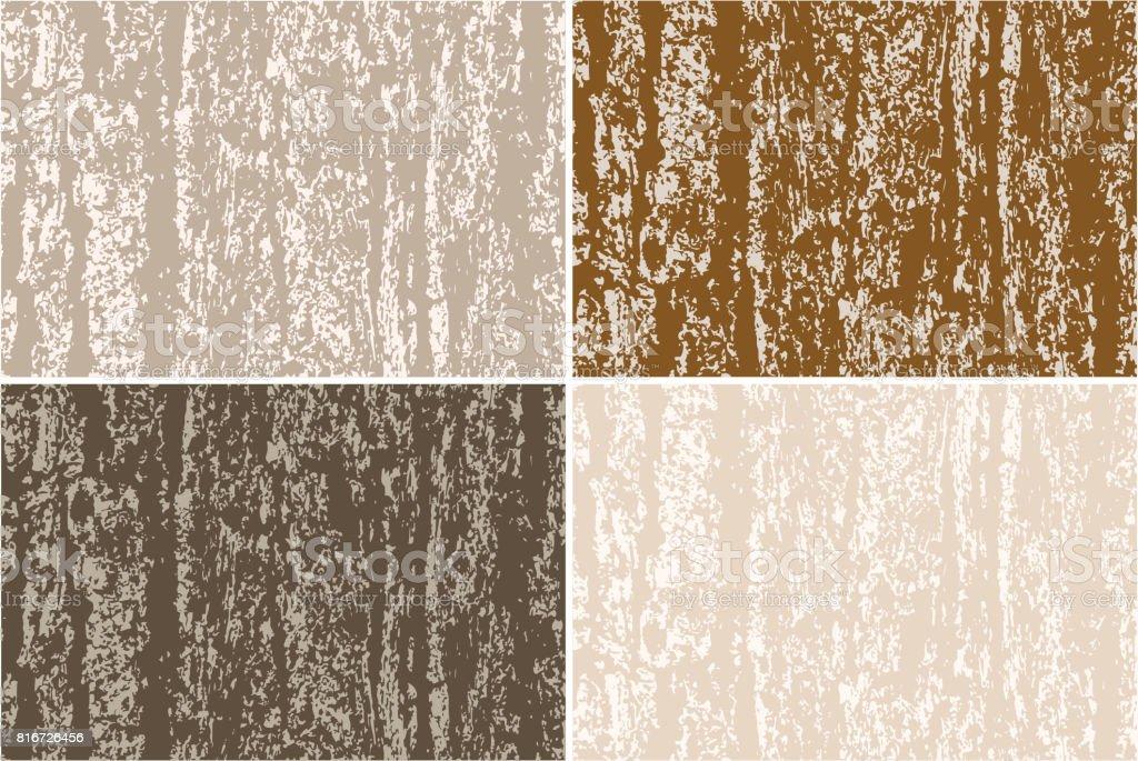 Vector grunge background. Old bark tree texture vector art illustration