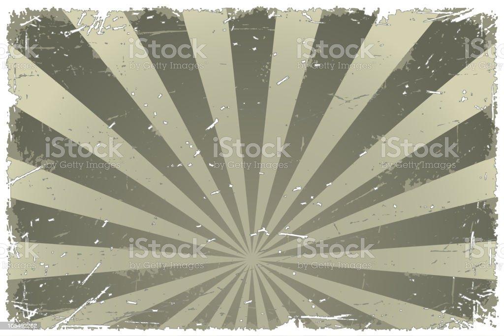Vector Grunge Burst Frame royalty-free stock vector art