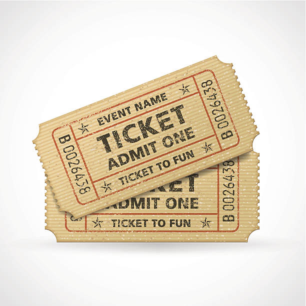 Vector Grunge Cinema tickets Hi quality vector cinema tickets Composition. Each ticket is orgenized in 3 layers, separating background from art and text. admit one stock illustrations
