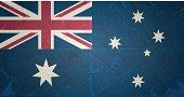vector grunge flag of australia