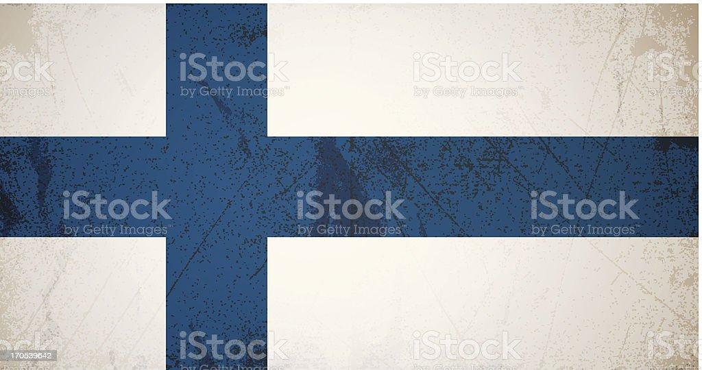 vector grunge Flagge von Finnland – Vektorgrafik