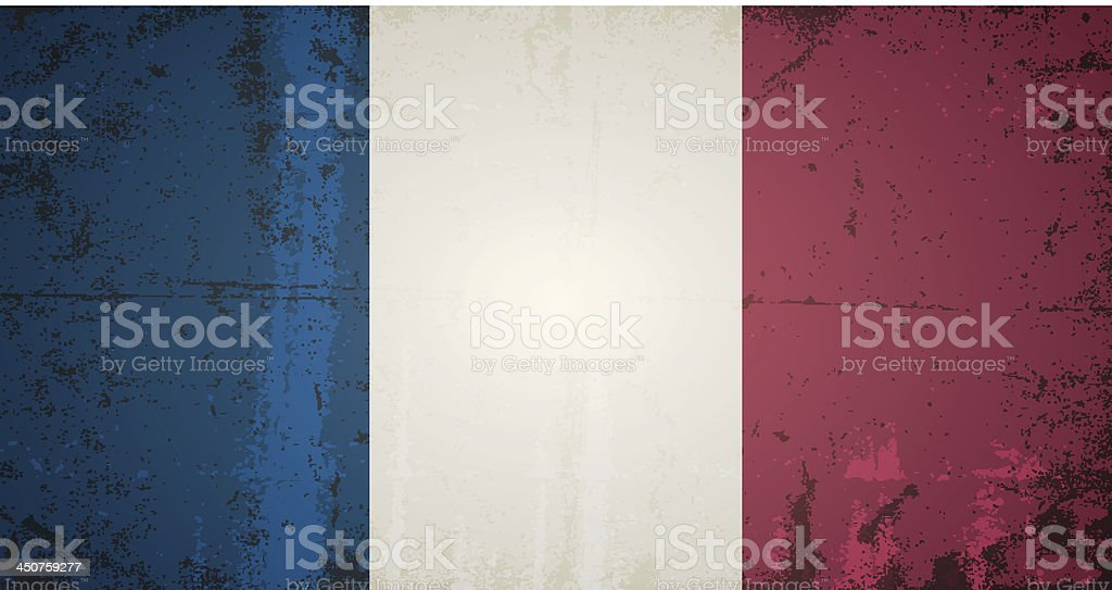 vector grunge flag of france royalty-free stock vector art