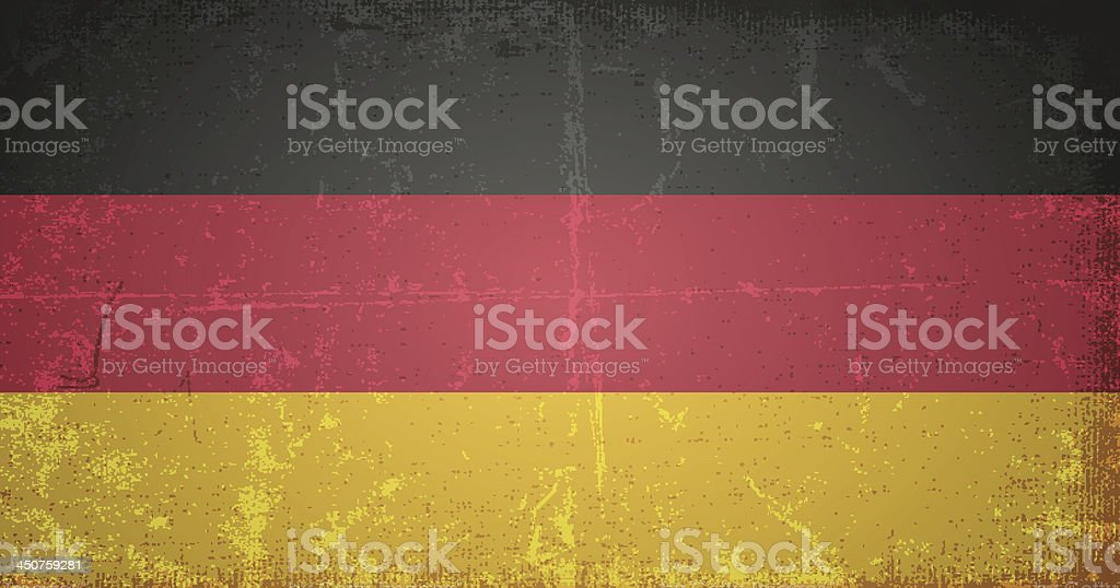 vector grunge flag of germany royalty-free stock vector art