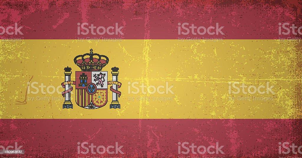 vector grunge flag of spain royalty-free stock vector art