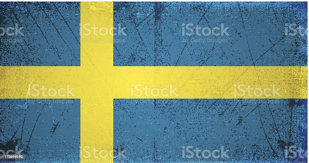 vector grunge flag of sweden royalty-free stock vector art