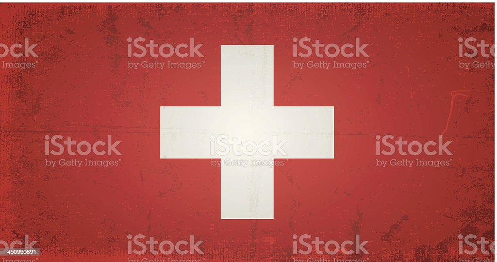 vector grunge flag of switzerland royalty-free vector grunge flag of switzerland stock vector art & more images of abstract