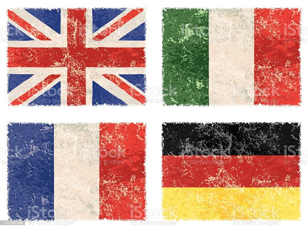 vector grunge flags vector art illustration