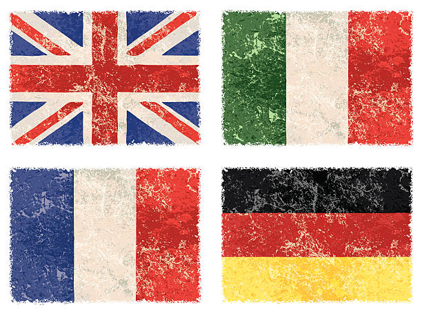 vector grunge flags - union jack flag stock illustrations, clip art, cartoons, & icons