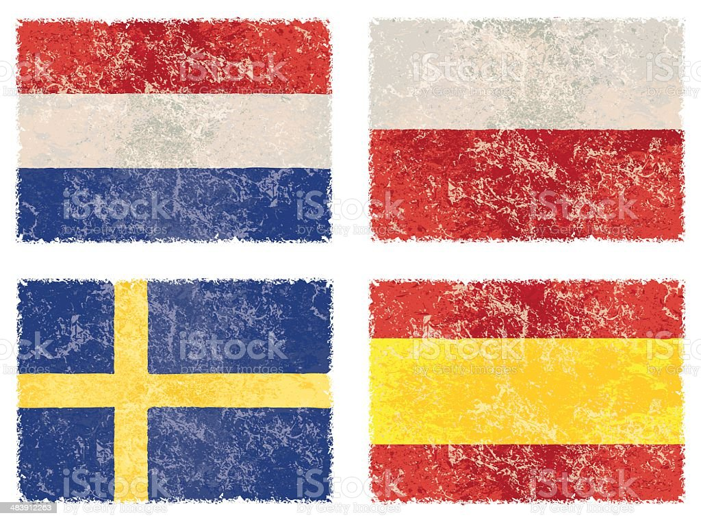 vector grunge flags royalty-free stock vector art