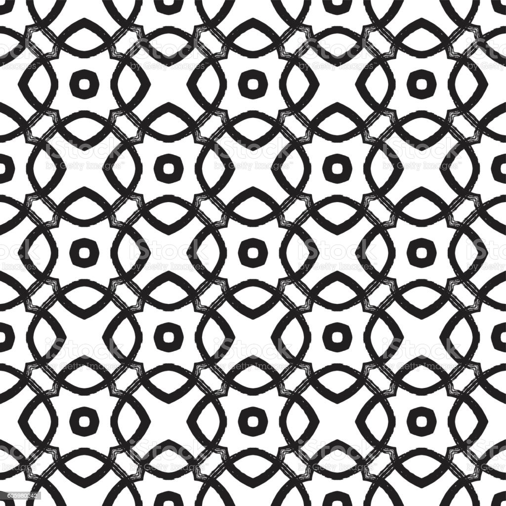 Vector grunge hand-drawn cute seamless pattern texture vector art illustration