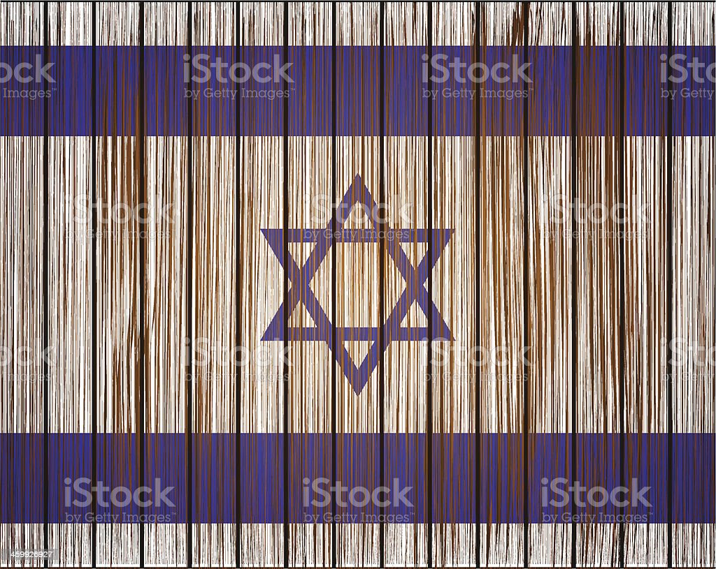Vector grunge israel flag. Eps10 royalty-free stock vector art