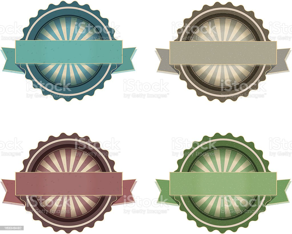 Vector grunge labels royalty-free stock vector art