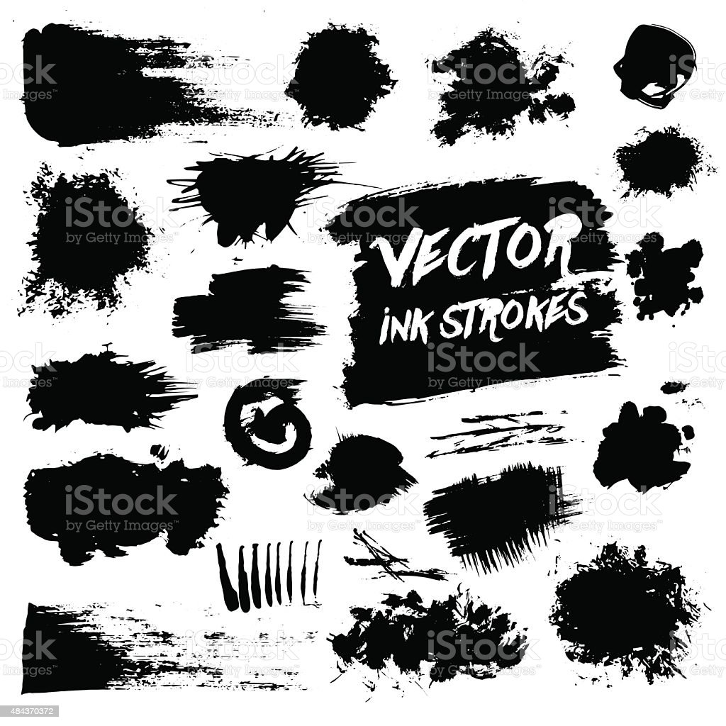 Vector grunge messy vector stains vector art illustration