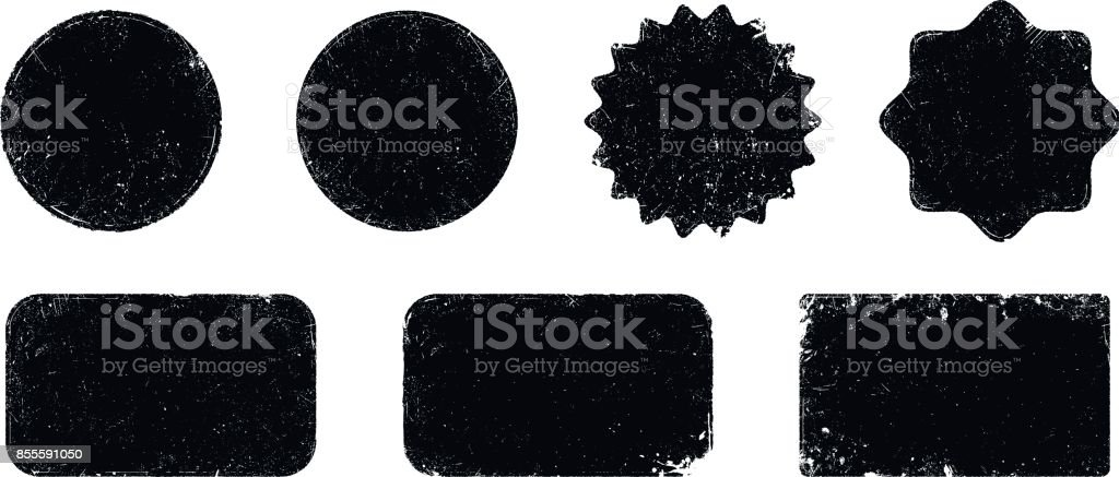 Vector grunge seal shapes