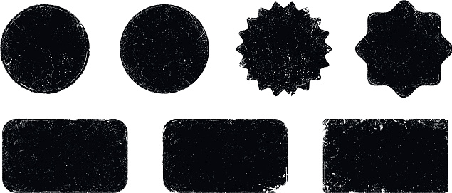 Vector grunge seal shapes