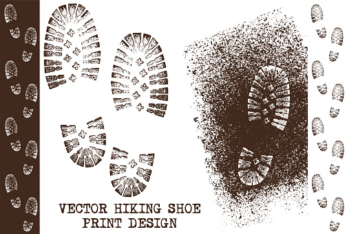 Vector grunge shoe prints
