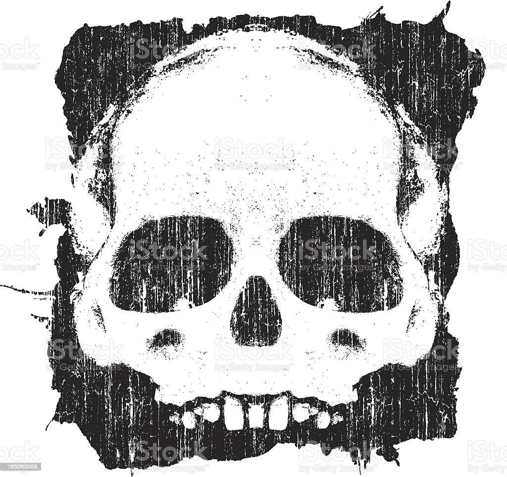 Vector Grunge Skull vector art illustration