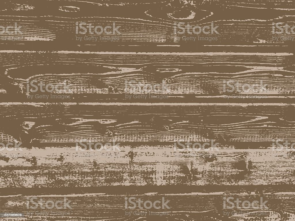 Vector grunge wooden texture vector art illustration