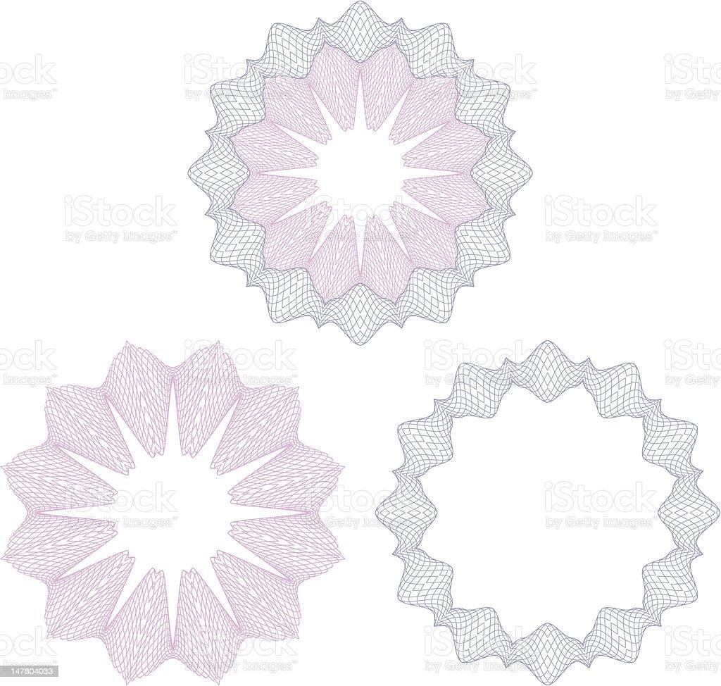 Vector guilloche rosettes royalty-free stock vector art