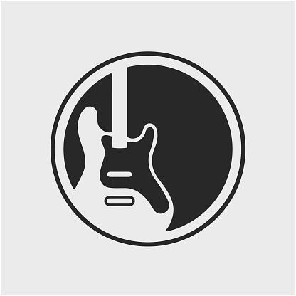 vector guitar logo icon