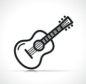 istock Vector guitar symbol icon isolated 1210328345