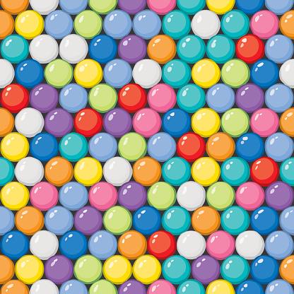 Vector Gumballs Background - Seamless Tile