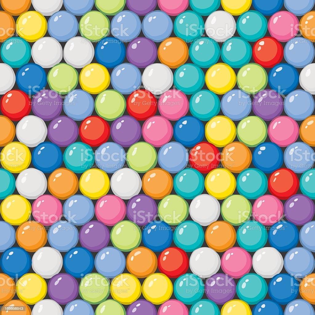 Vector Gumballs Background - Seamless Tile vector art illustration