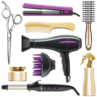 Vector Hair Styling Icons
