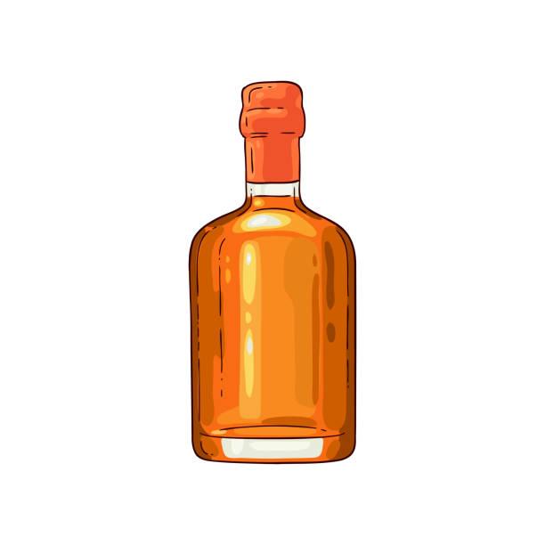 Best Clip Art Of Whiskey Bottle Labels Illustrations