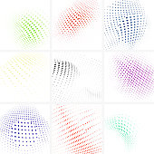 Vector Half Tone Dots Pattern Backgrounds Collection