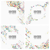 Vector Half Tone Polka Dots Pattern
