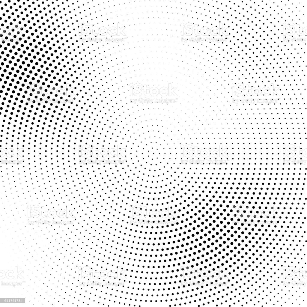 Vector halftone abstract transition dotted pattern vector art illustration