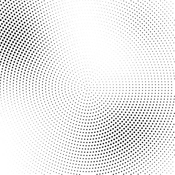 Vector halftone abstract transition dotted pattern Vector halftone abstract transition dotted circular pattern wallpaper. Abstract halftone effect black dots geometric background. high key stock illustrations