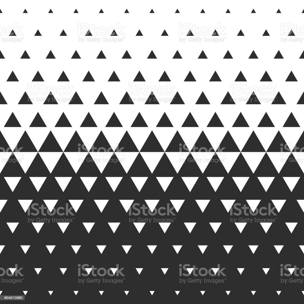 Vector halftone abstract transition triangular pattern wallpaper. vector art illustration