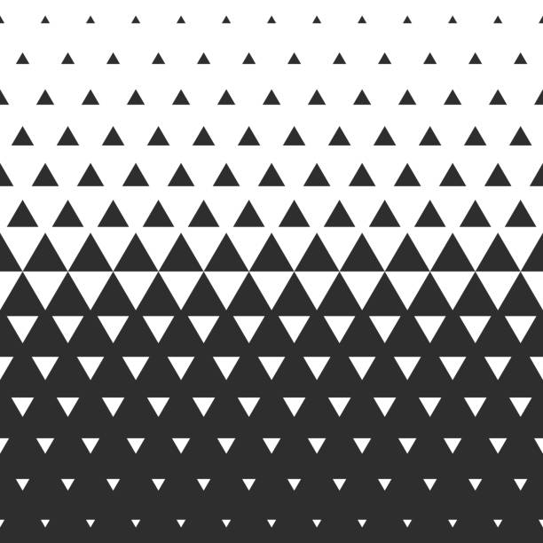 vector halftone abstract transition triangular pattern wallpaper. - repetition stock illustrations, clip art, cartoons, & icons