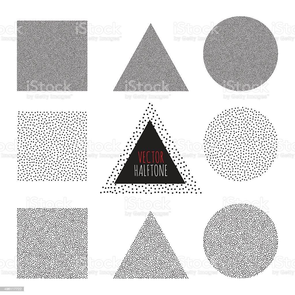 Vector Halftone Background vector art illustration