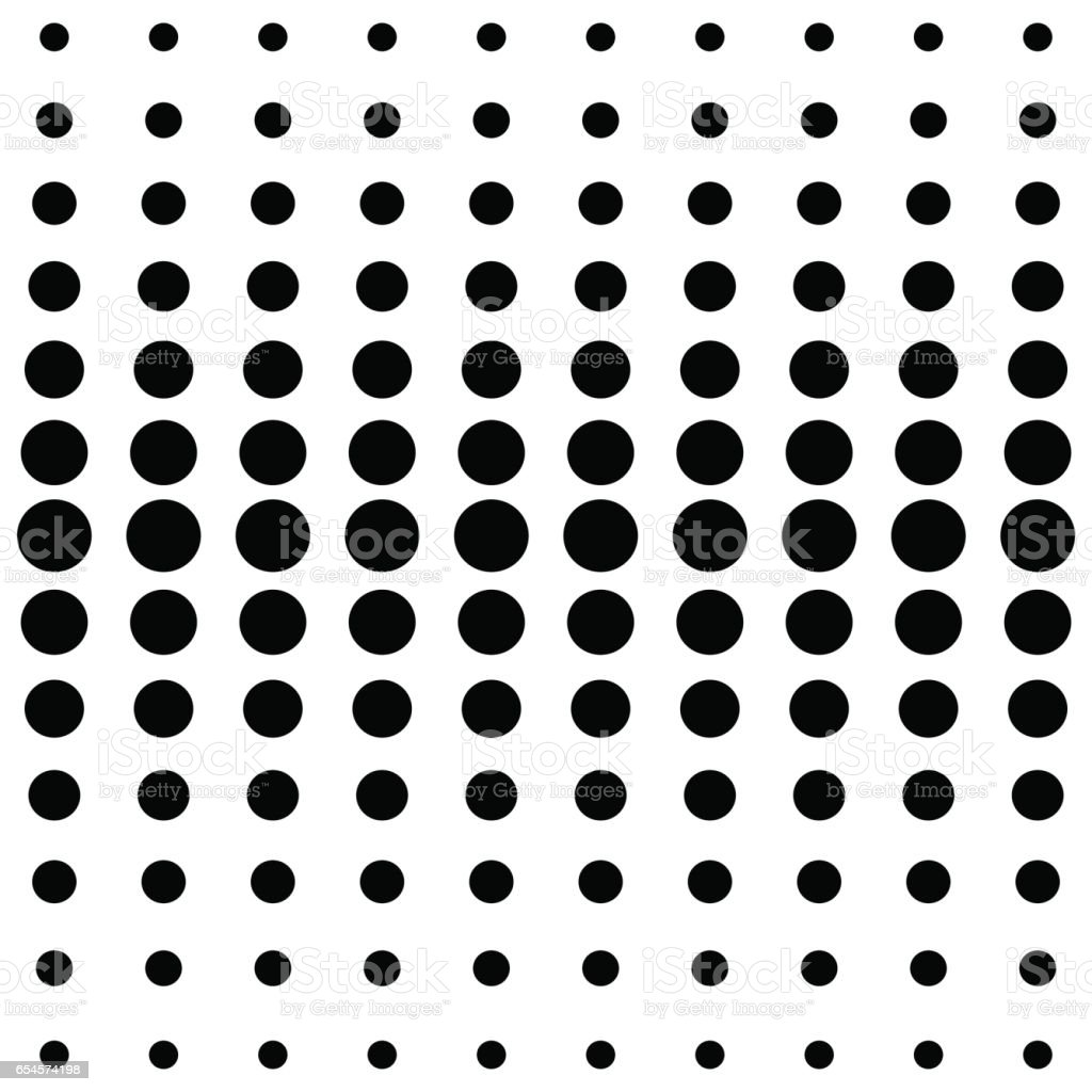 vector halftone dots black dots on white background stock vector art rh istockphoto com halftone vector free halftone vector download