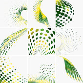 Vector Halftone Dots Pattern Collection