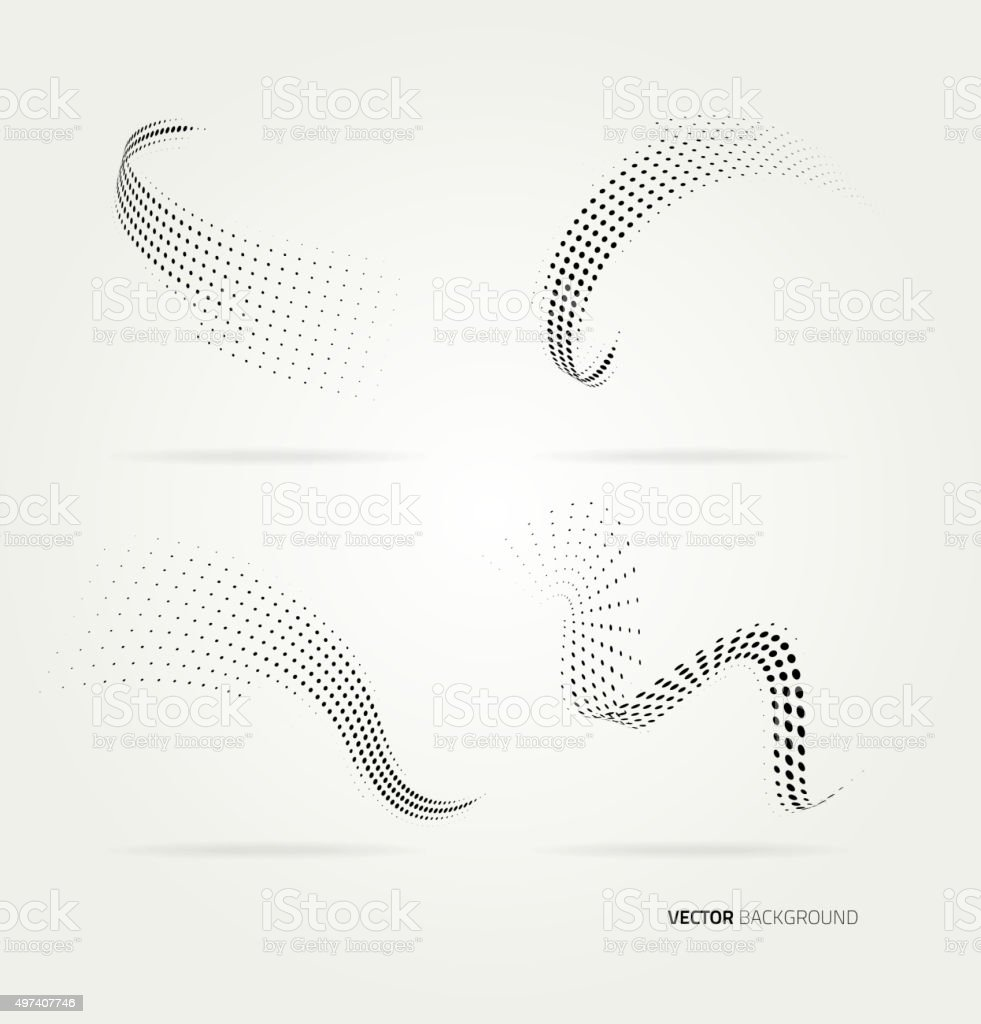 Vector halftone dots vector art illustration