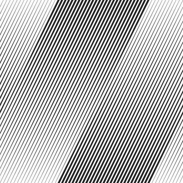 stockillustraties, clipart, cartoons en iconen met vector halftone line transition wallpaper pattern - gekanteld