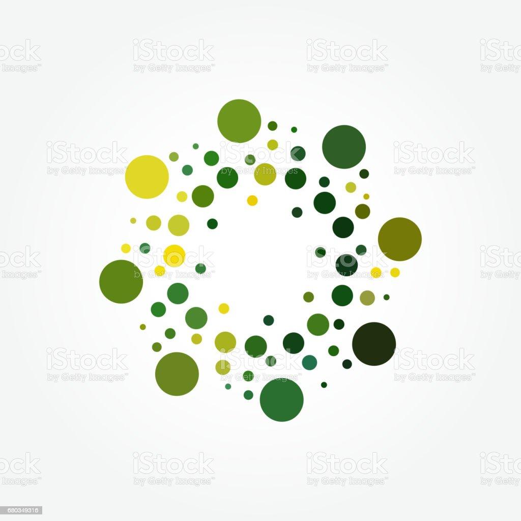 Vector halftone polka dots pattern vector art illustration